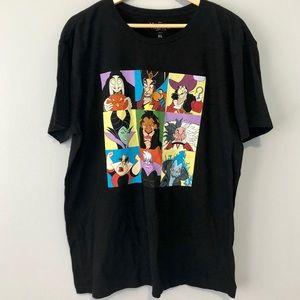 Disney Villains XL black graphic tee shirt